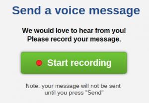 send a voice mail