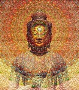 buddha and sacred geometry, 350x398