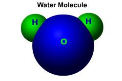 hydrogen oxygen water molecule1