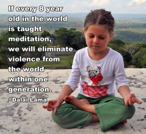 meditating at 8